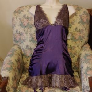 NWT Fredericks of Hollywood purple nightie